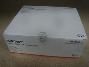 20x Siemens Healthcare CLINITEST Rapid COVID-19 Coronatest Antigen Schnelltest