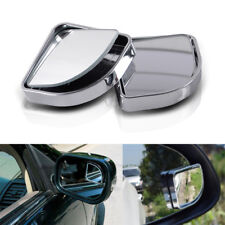 2pcs Silver HD 360° View Car Adjustable Blind Spot Wide Angle Rear Mirror #015