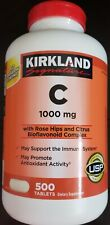 Kirkland Signature Vitamin C 1000 mg Rose Hips Citrus 500 Tablets 1 DAY SHIP