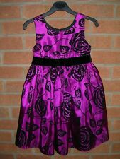 JONA MICHELLE Girls Black Purple Glitter Party Dress Age 5 110cm