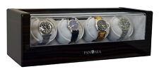 Pangaea Quad 4 Automatic Watch Winder Wood Storage Box Case Free U.S Shipping