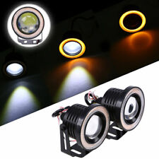 "2PCS 3"" COB LED Fog Light Projector Car Yellow Angel Eyes Halo Ring DRL Lamsp"
