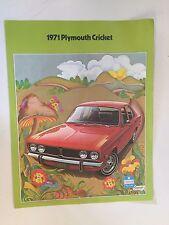Vintage 1971 Plymouth Cricket Brochure Chrysler Automobile Car Features Colors