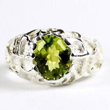 PERIDOT Sterling Silver Men's Ring, Handmade • SR168