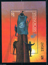 "Micronesia - ""FLAG ~ 50th ANNIVERSARY OF UNITED NATIONS"" MNH MS 1995 !"
