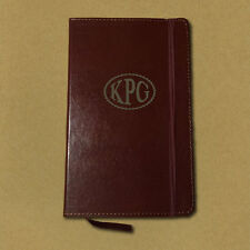 Personalized Monogram Leather Journal Notebook Diary - Brown