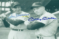 Autographed Signed 8x10 Photo REPRINT of Mickey Mantle & Joe DiMaggio