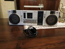 GETTO BLASTER SHARP QT 37  MINI  BOOMBOX RADIO CASSETTE PLAYER VINTAGE