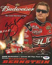 Brandon Bernstein Signed 2008 Budweiser Lucas Hero Photocard - PSA/DNA # Y09330