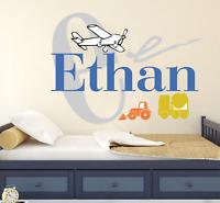 Custom Name Truck 2 Wall Decal Vinyl Sticker Nursery for Home Bedroom Children