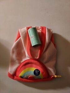 Top Paw Pink Rainbow Sweatshirt w/ poop bag XS