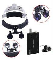Dental Magnifier 3.5X Loupe Surgical Binocular Headband Glass+LED Headlight Lamp