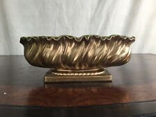 Collectible Art Pottery Signed Rubens Dish Bowl Urn Console WOW Green Gold