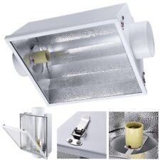 "6"" Air Cooled Reflector Hood w/ Glass Fit 1000w 600w 400w 250w HPS MH Grow Light"