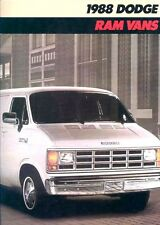 1988 Dodge Ram Cargo Van 10-page Original Car Sales Brochure Catalog