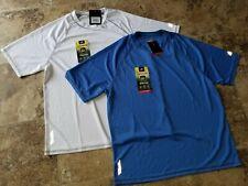 New ZeroXposur Mens Sun Protection Upf50 Shirt Stretch White Blue T-Shirt Xl S L