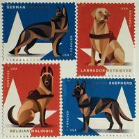 USA Amerika 2019 Nr. 5642-45 Arbeitshunde im Militär Tiere Fauna Schäferhund
