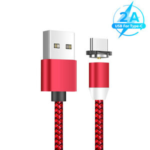 HEAVY DUTY BRAIDED MAGNETIC USB C TYPE C CABLE PHONE CHARGER DATA CORD 6.6FT D4