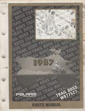 1987 POLARIS ATV TRAIL BOSS, W877527  PARTS MANUAL P/N 9911349 (931)