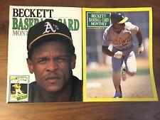 (2) RICKEY HENDERSON BECKETT BASEBALL MONTHLY 1989 & 1991 PRICE GUIDE MAGAZINE