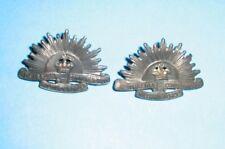 Australia Pair of Rising Sun Collar Badges All Lugs Intact Genuine
