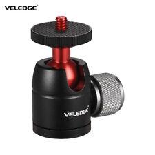 "VELEDGE 360°Swivel Mini Ball Head Adapter 1/4""Screw Mount for Camera Tripod D5F6"