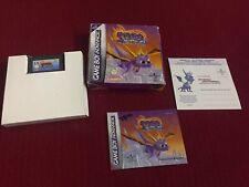 Boxed Spyro Season of Ice Game Boy Advance Cartridge Booklet