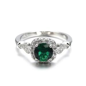 Womens Ring Square Emerald Filled Silver Wedding Party Rings Hot JAZZ