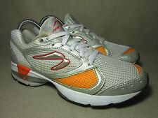 SIR ISAAC NEWTON Men's Silver/White/Orange Running Trainers UK 6/EU 39.5
