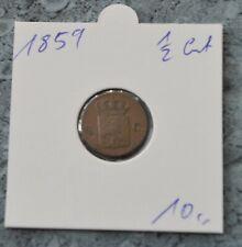 Niederlande 1/2 Cent  1859  ***