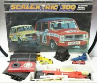 Vtg SCALEXTRIC 300 Mini Cubman Racing Set Boxed Track Cars Controls - 254