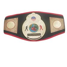 Adult Title Boxing Gold Plated 3D Center Plate Leather Champion Belt with Cover