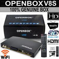 Openbox V8S Digital HD TV Satellite Receiver Box PVR WIFI 1080P Freesat Genuine