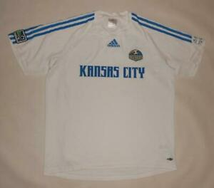 AWAY SHIRT ADIDAS KANSAS CITY WIZARDS 2007 (L) Jersey Trikot Maillot Maglia