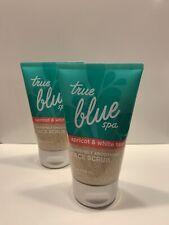 One (1) Bath & Body Works (True Blue Spa) Apricot & White Tea Face Scrub 4 oz