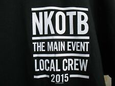 New Kids On The Block 2015 The Main Event Tour Crew T-Shirt Large Nkotb Black