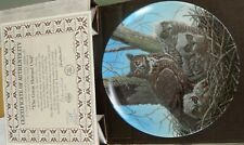 Vintage Edwin M Knowles The Great Horned Owl China Plate New In Box