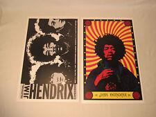 Two Jimi Hendrix Posters 1968 Fairgrounds Dba Serigraphics 1982