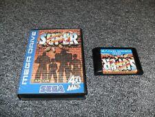 GENUINE SEGA MEGA DRIVE GAME - SUPER STREET FIGHTER 2 - BLUE - BOXED - TESTED