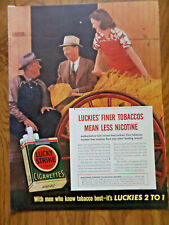 1940 Lucky Strike Cigarette Ad H L Kersey 14 Years an Independent Buyer Tobacco