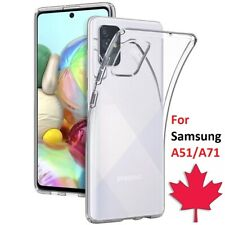 For Samsung Galaxy A51 / A71 Case - Clear Thin Soft TPU Silicone Back Cover