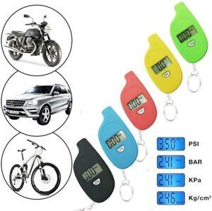 BLUE Keyring PSI Bar Digital Tyre Pressure Gauge Car, Van, Motorbike, Cycle