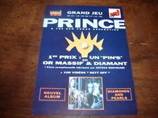 PRINCE - FLYER PROMO DIAMONS & PEARLS !!!!!!!!!