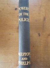 More details for 1938 rare first edition book powers of the police arrest entry weston & phelps