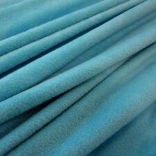 Stoff Meterware Polar Fleece antipilling weich knitterfrei blau aqua