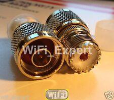 N Male Plug to UHF SO239 Female Jack RF Connector Adapter USA