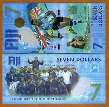 FIJI, $7, 2017, P-New, UNC > Commemorative, The only $7 legal tender worldwide