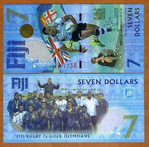 FIJI, $7, 2017, P-120, UNC > Commemorative, The only $7 legal tender worldwide