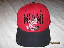 Miami Heat Adidas Snapback Hat Cap Mens One Size Wool Lebron NBA Champions