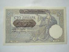 SERBIA Yugoslavia lot 2 notes 100 dinara 1941 VF+ - aUNC Germany War